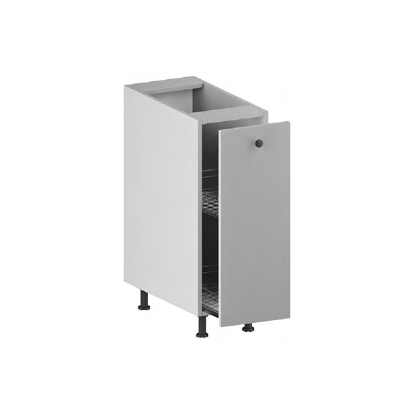 Base Cabinet (Pull-out Front with Crome Unit) for kitchen