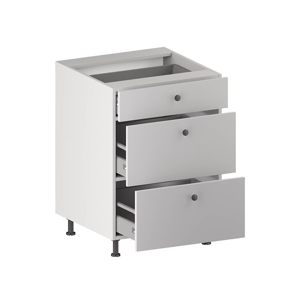 Base Cabinet (3 Drawers (1 Small + 2 Equal)) (ITA) for kitchen