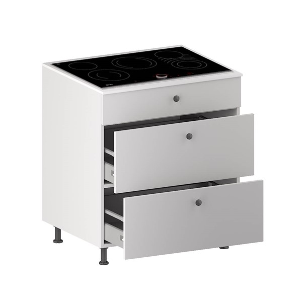 Cooktop Base Cabinet (1 False panel & 2 Equal Drawers) (ITA) for kitchen
