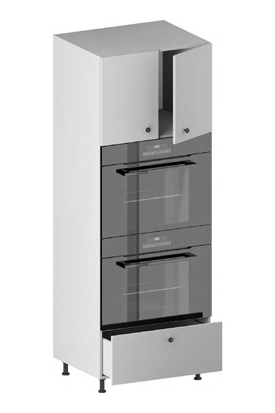 Tall Double Oven Housing Cabinet (2 Doors, 1 Opening, 1 Drawer) for kitchen