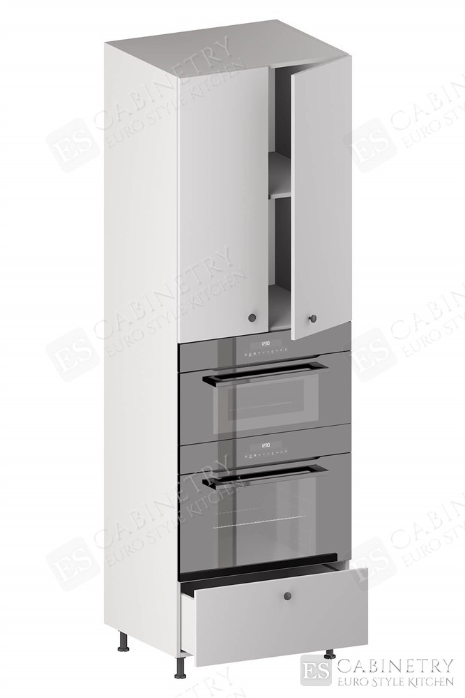 Tall Double Oven Housing Cabinet (2 Doors, 1 Adjustable Shelf, 1 Opening, 1 Drawer) for kitchen