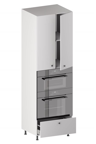 Tall Double Oven Housing Cabinet (2 Doors, 1 Adjustable Shelf, 1 Opening, 1 Drawer) (ITA) for kitchen
