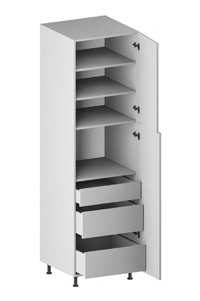 Pantry Cabinet (3 Drawers, 2 Doors & 3 Adjustable Shelves) for kitchen
