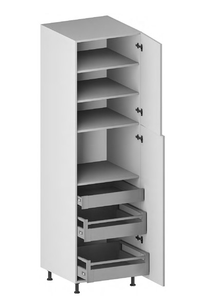 Pantry Cabinet (3 Drawers, 2 Doors & 3 Adjustable Shelves) (ITA) for kitchen