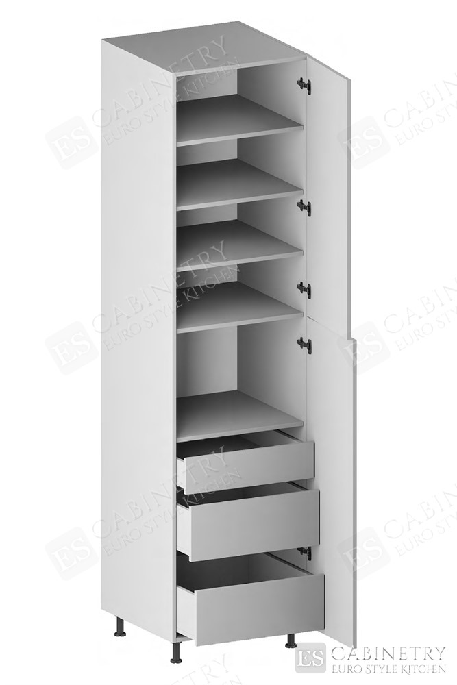 Pantry Cabinet (3 Drawers, 2 Doors & 4 Adjustable Shelves) for kitchen