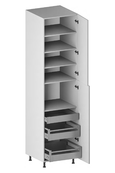 Pantry Cabinet (3 Drawers, 2 Doors & 4 Adjustable Shelves) (ITA) for kitchen