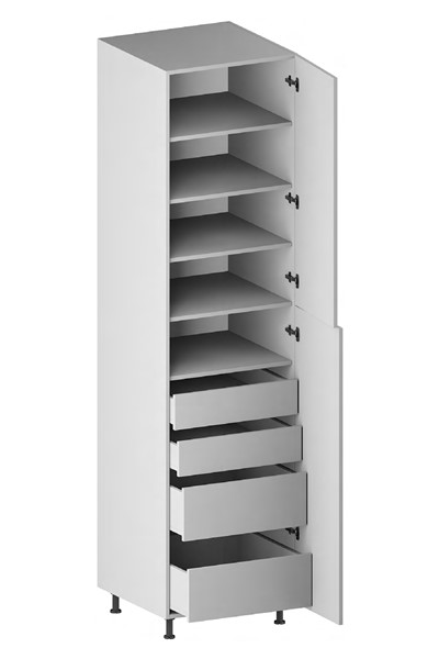 Pantry Cabinet (4 Drawers, 2 Doors & 4 Adjustable Shelves) for kitchen