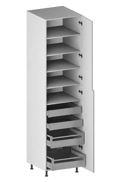 Pantry Cabinet (4 Drawers, 2 Doors & 4 Adjustable Shelves) (ITA) for kitchen