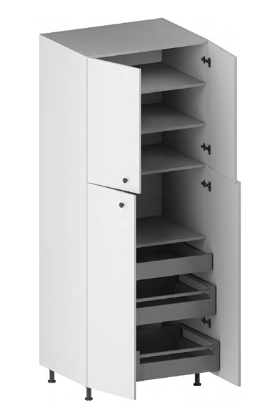 Pantry Cabinet (3 Drawers, 4 Doors & 3 Adjustable Shelves) (ITA) for kitchen