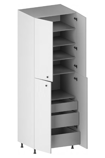 Pantry Cabinet (3 Drawers, 4 Doors & 4 Adjustable Shelves) for kitchen