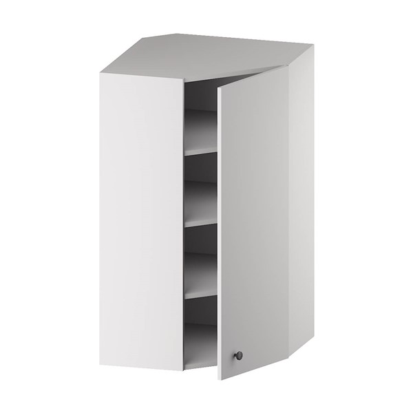 Wall Diagonal Corner Cabinet (1 Door & 3 Shelves) for kitchen